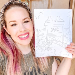 Authentically Addie Coloring Page Set